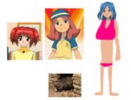Ichigo, Touko and Urubida