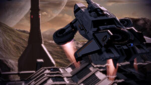 The Hammerhead approaches Hermes Station