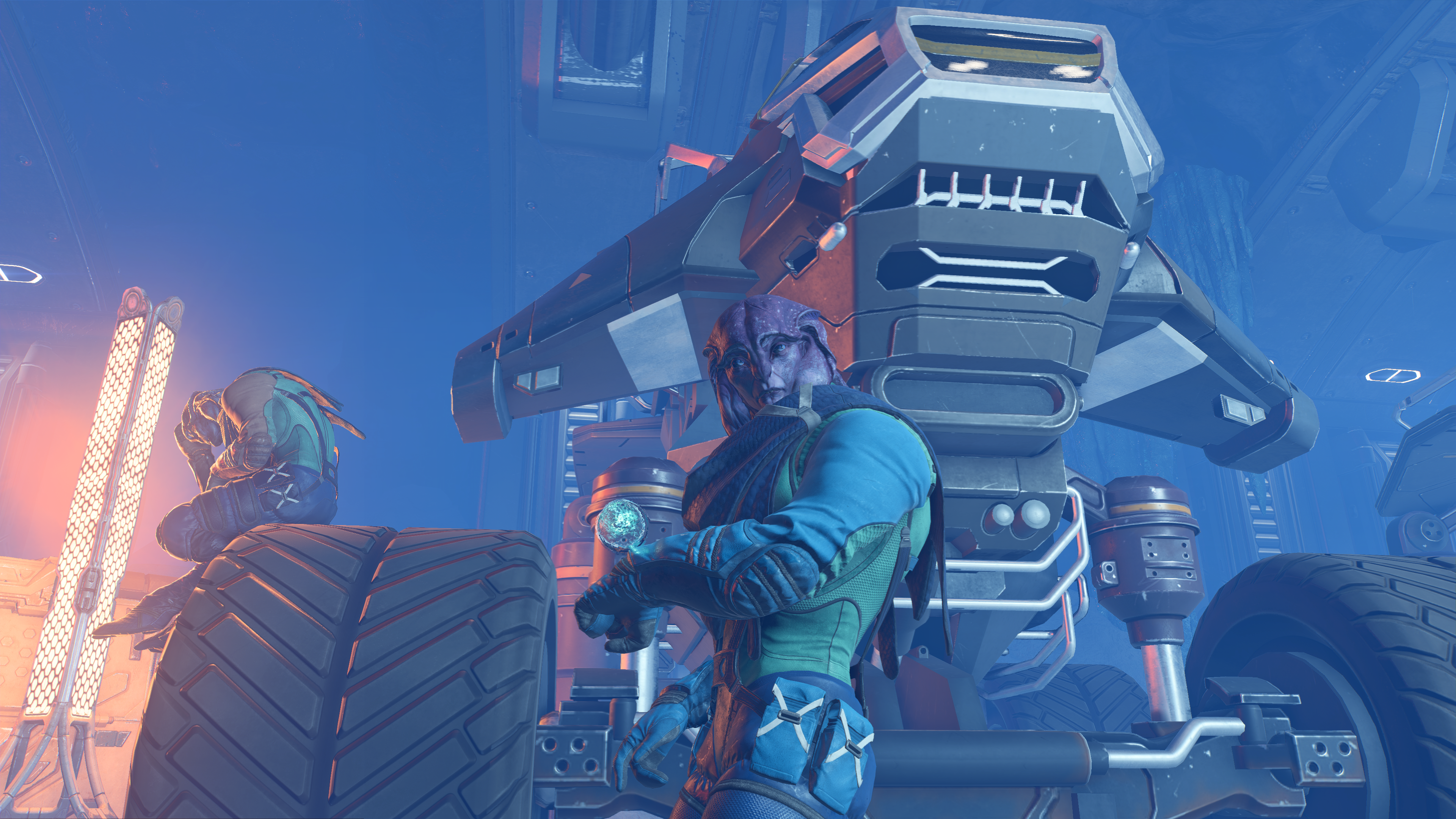 Angaran resistance base - the mechanic and his monster truck.png