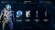 MEA Armadura explorador espacio profundo 01