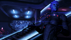 Trust an asari to conduct important wartime communications inside a bar