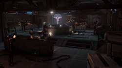 The command center in Aria's bunker