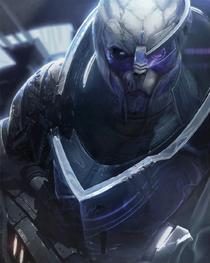 Портрет Гарруса (МЕ2). Art of Mass Effect