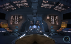 The Normandy's command deck