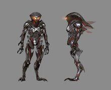 Mass Effect 2 character concept art Collector