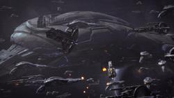 Schlacht um das Geth-Schlachtschiff