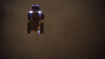 The Mako during an air drop.