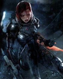 Женщина-Шепард. Art of Mass Effect