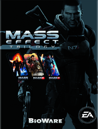 The cover of the Mass Effect Trilogy set