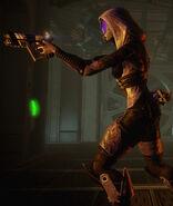Tali w alternatywnym kostiumie w ME2