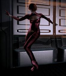 Kelly dancing in Shepard's cabin.