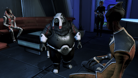 The angry volus with an indeterminate facial expression
