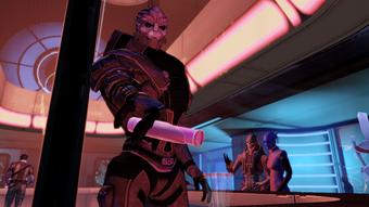 The Dark Star bartender in 2185