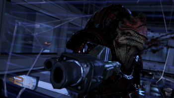 Wrex dies fighting for his people in one of the consequences of your actions