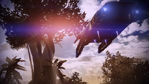 The shuttle lands on Zorya
