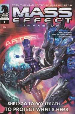 Mass Effect: Invasion #1 cover from the Collectors' Edition of Mass Effect 3