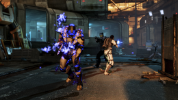 Assault Trooper primed for a biotic explosion