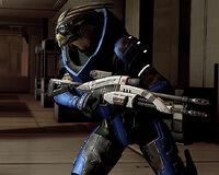 Garrus Vakarian ME2 con Mantis M-92