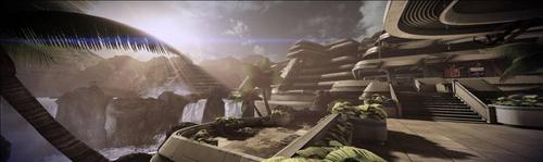 An overhead view of Firebase Jade