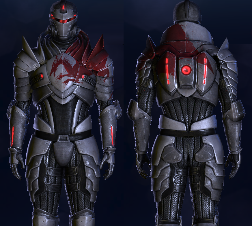 Blood Dragon Armor Mass Effect Wiki Fandom In order to do it you need to create a master blacksmith skill. blood dragon armor mass effect wiki