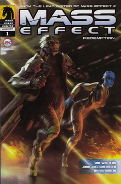 Mass Effect: Redemption #1 cover from the Collectors' Edition of Mass Effect 2
