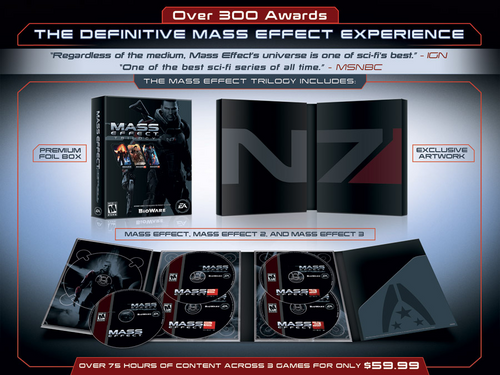 Contents of the Mass Effect Trilogy