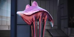 A bioluminescent hanar