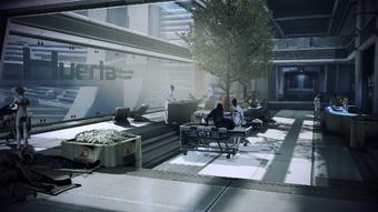 Patient lounge of the Huerta Memorial Hospital