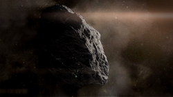 The asteroid 157-Golgotha, location of Object Rho and the Project Base