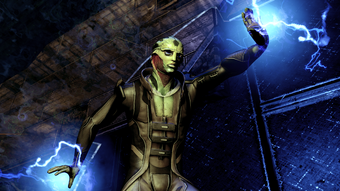 Drell are capable of wielding biotics on par with other races