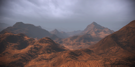 Mountains of brown