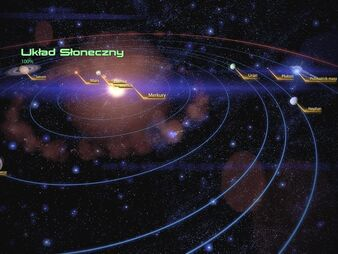 Widok Układu Słonecznego w Mass Effect 2