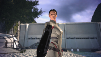 Live or die? Ashley Williams executing a character in Mass Effect