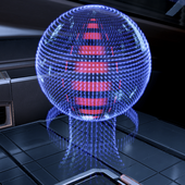 EDI's 'mouth' glows red when queried about restricted information