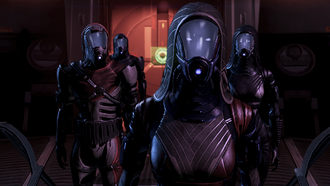 Left to right: Gerrel, Koris, Raan, Xen