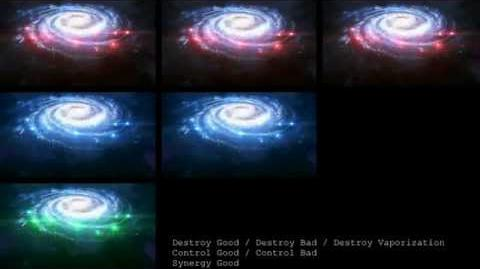 Mass Effect 3 - Ending Movie Comparison - All the Colors