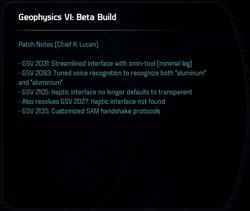 Geophysics VI: Beta Build