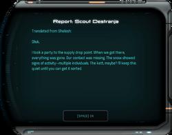 Report: Scout Destranja