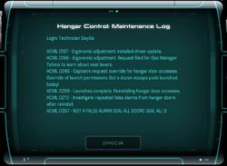 Hangar Control: Maintenance Log