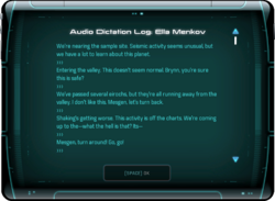 Audio Dictation Log: Ella Menkov