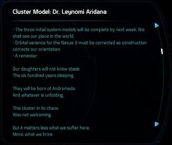 Cluster Model: Dr. Leynomi Aridana
