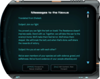 Messages to the Nexus Resistance HQ Terminal.png