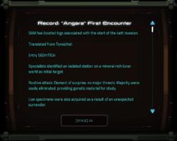 "Record: ""Angara"" First Encounter"