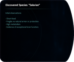 "Discovered Species: ""Salarian"""