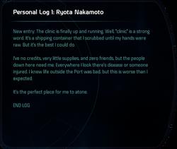Personal Log 1: Ryota Nakamoto