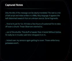 Captured Notes