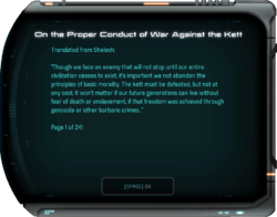 On the Proper Conduct of War Against the Kett