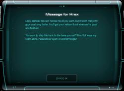 Message for Krex