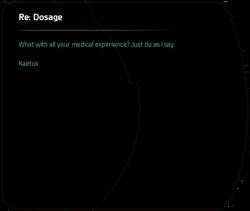 Re: Dosage (2)