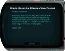 Charter Governing Citizens of Aya, Revised